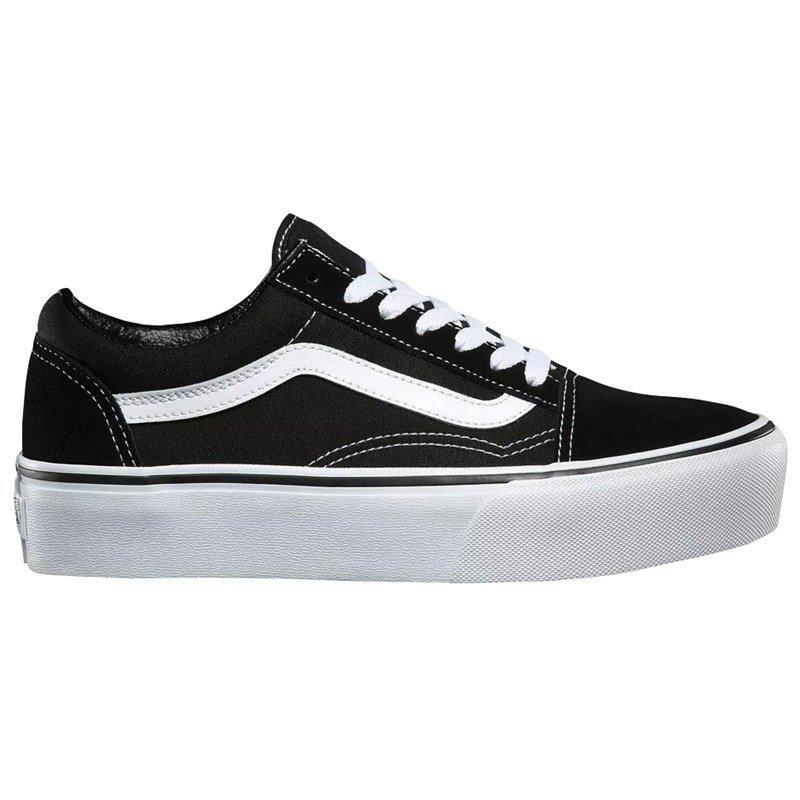 4083ce55b Tênis Feminino Vans Old Skool Platform - Black/White - Session Store