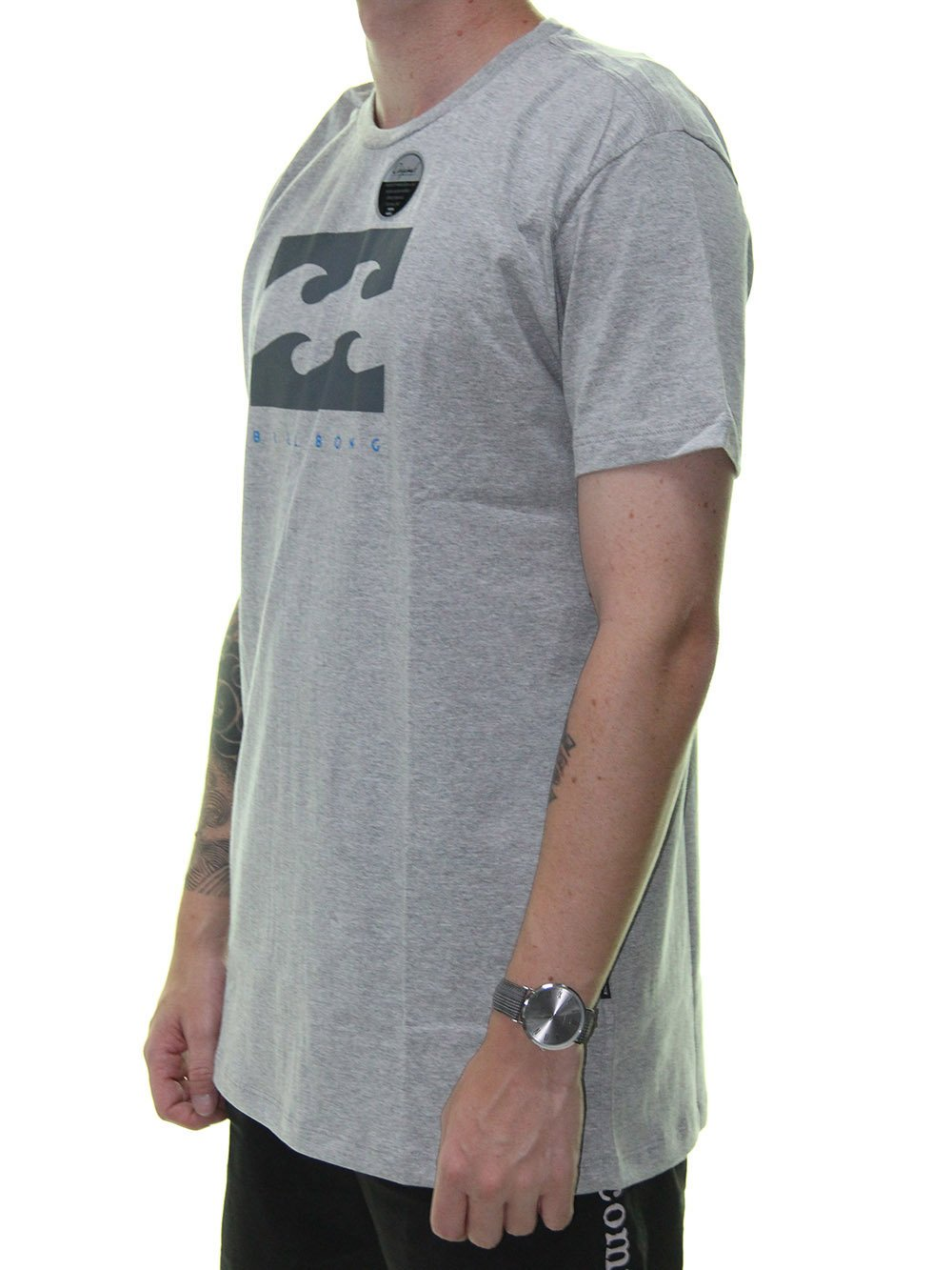 67b9efb6f1 ... Camiseta Masculina Billabong Original Secret Estampada Manga Curta -  Cinza Mesclado ...