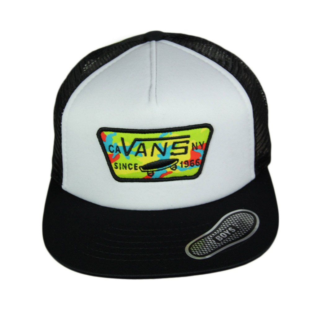 845c1df300 ... Boné Infantil Vans Full Patch Boys Trucker Aba Reta - Branco/Preto