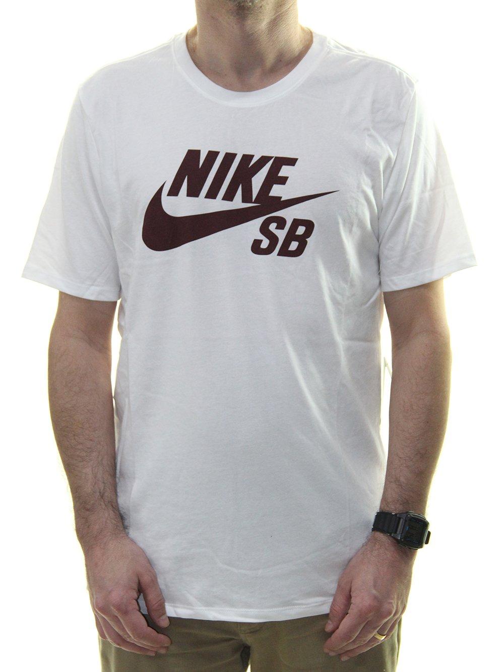 5a34ea462715 Camiseta Masculina Nike SB Logo Tee Estampada - Branco - Session Store