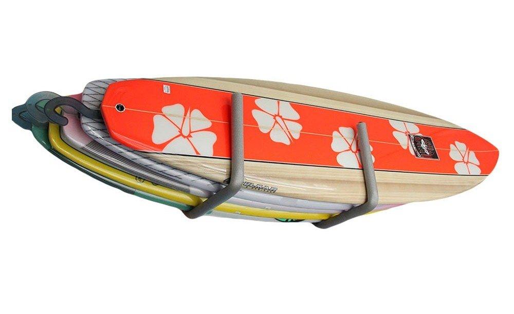 Suporte Rack para Prancha de Surf Feeton Comporta 5 Unidades - Cinza