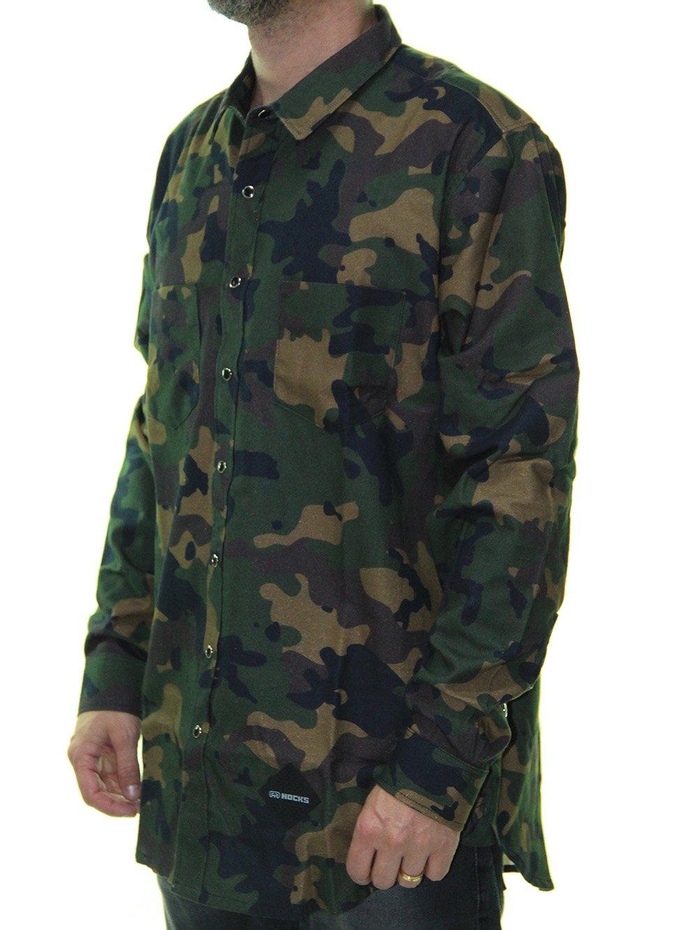 Camisa Flanela Hocks Camow Manga Longa - Camuflado - Session Store 2dc51ed30cd