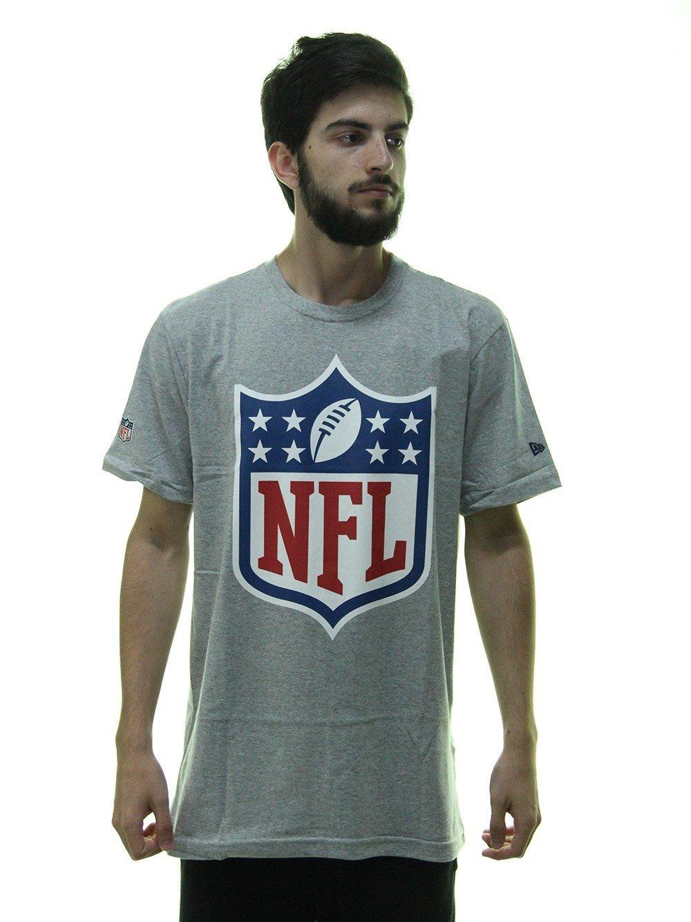 Camiseta Masculina New Era Logo NFL Estampada Manga Curta - Cinza Mesclado  ... 781fe730eb1