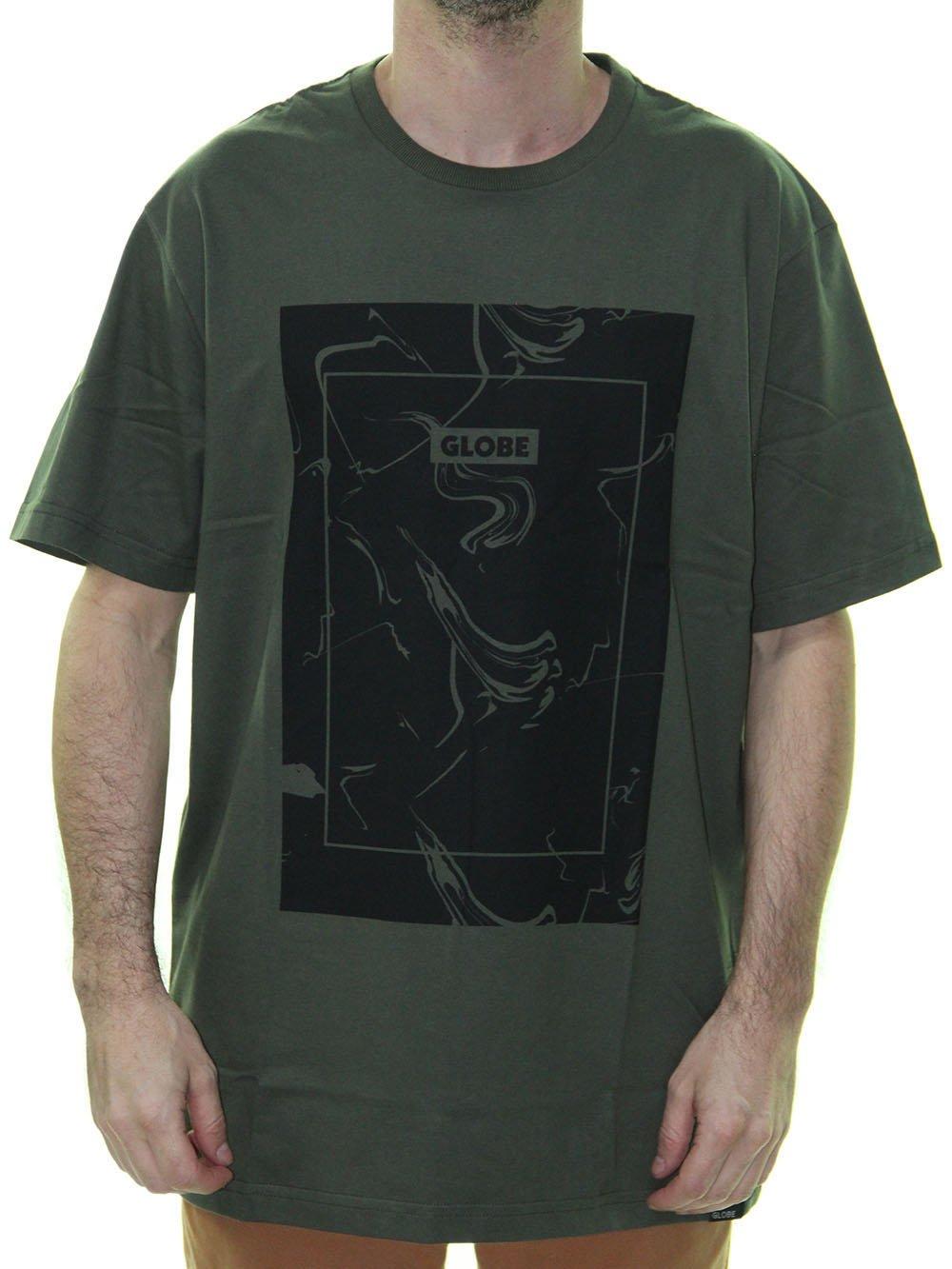 a1f36f4f833 Camiseta Masculina Globe Básica Caper Estampada Manga Curta - Verde Musgo  ...