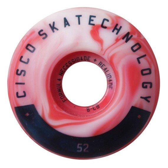 Roda Skateboard Cisco Mix Color 52mm 83B Poliuretano - Vermelho