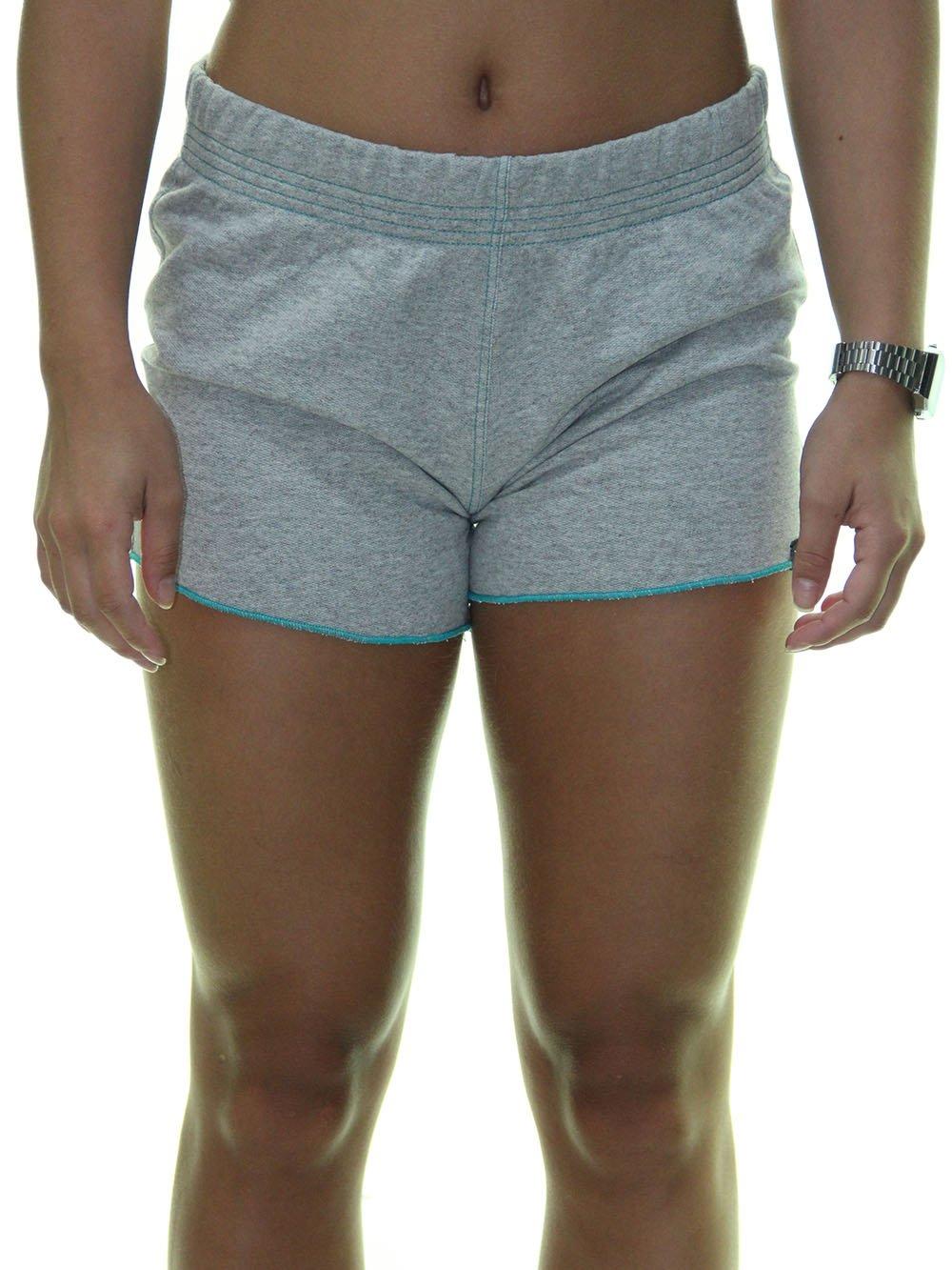 Shorts Feminino Hurley Malha All De Moletom Cinza Mesclado