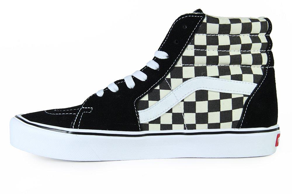 0b57c7607a9eb ... Tênis Masculino Vans SK8 Hi Lite - Checker Board/Black White ...