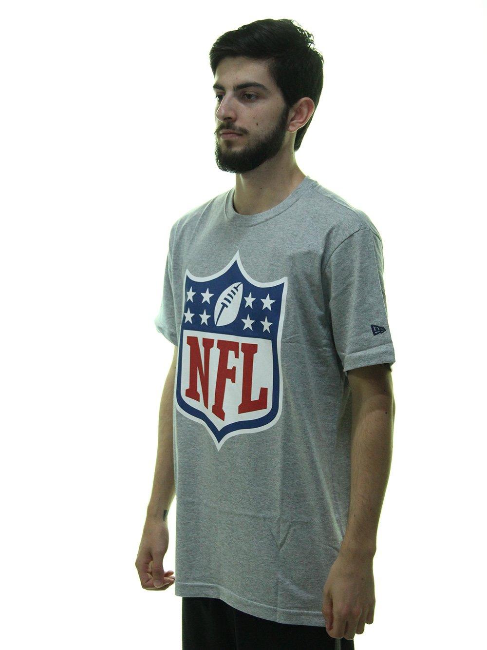 ... Camiseta Masculina New Era Logo NFL Estampada Manga Curta - Cinza  Mesclado ... 6109d5118be