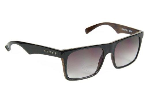Óculos de Sol Evoke EVK 22 wd01 Black Shine Lenses - Black Wood