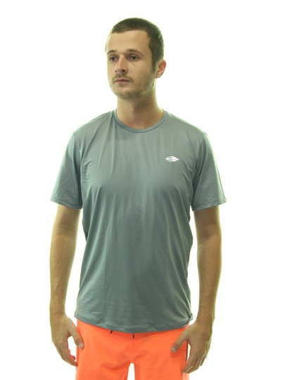 Camisa Lycra Masculina Mormaii Manga Curta Proteção Raio UV Cinza