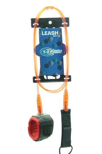 Leash para Surf SDA 6 Pés Competição com Distorcedor Duplo - Vermelho/Preto