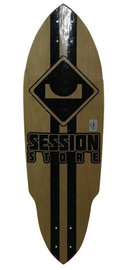 "Shape Longboard Session Dogtown 9.25"" - Bege/Preto"