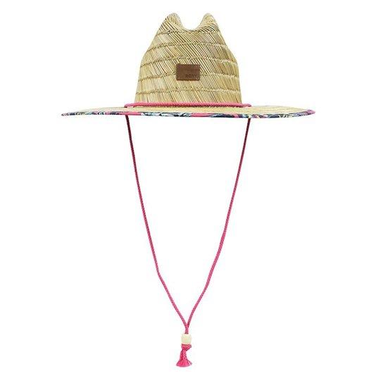 Chapéu de Palha Roxy Tomboy Printed - Palha/Bordô