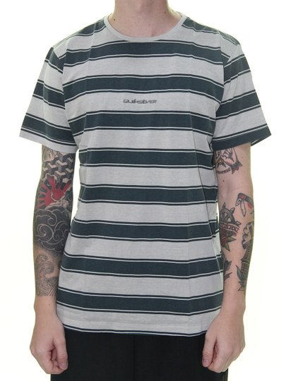 Camiseta Masculina Quiksilver Listra Maxed Manga Curta - Cinza/Marinho