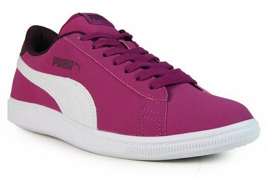 Tênis Feminino Puma Vikky Nobuck - Pink/White