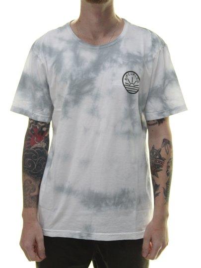 Camiseta Masculina Rip Curl Racer Manga Curta - Branco Tie Dye