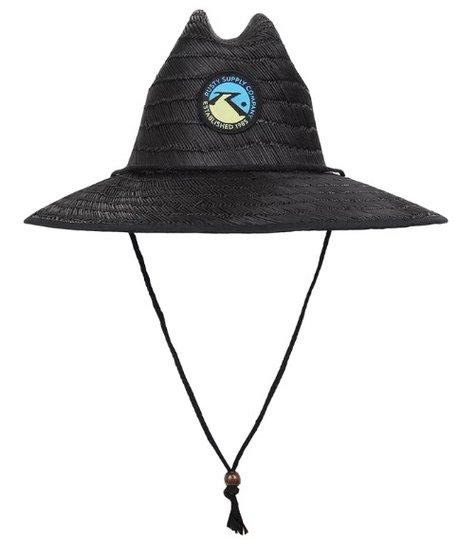 Chapéu de Palha Rusty Straw Lifeguard - Preto