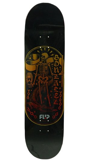 "Shape Skateboard Flip Maple Gonzalez Icono clastics Series 8.4"" - Preto"