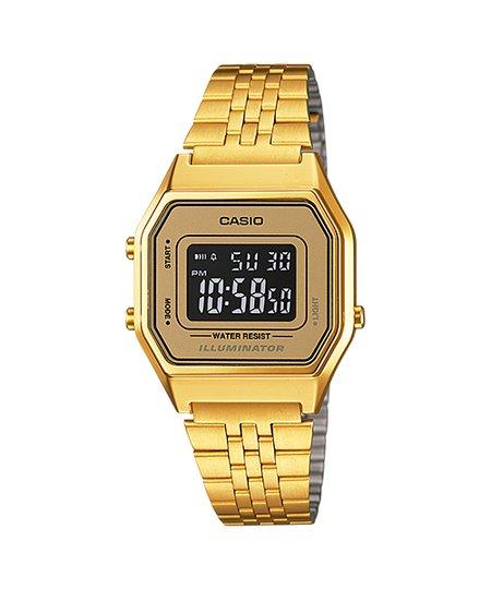 Relógio Casio Vintage Digital LA680WGA-9BDF - Dourado.