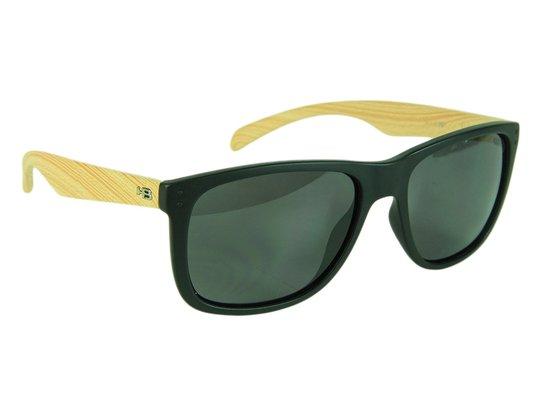 Óculos HB Ozzie Gray Lenses - Black Matte/Wood