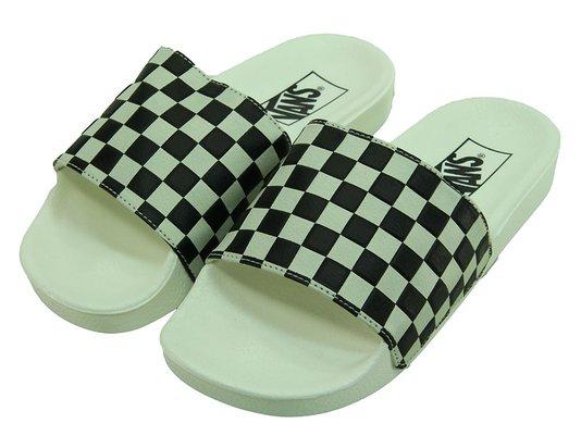 Chinelo Feminino Vans Slide On - White/Black