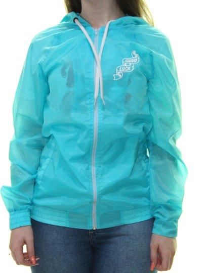 Jaqueta Feminina Grow Logo Quebra Vento - Azul