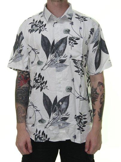 Camisa South To South Night Manga Curta - Branco Floral
