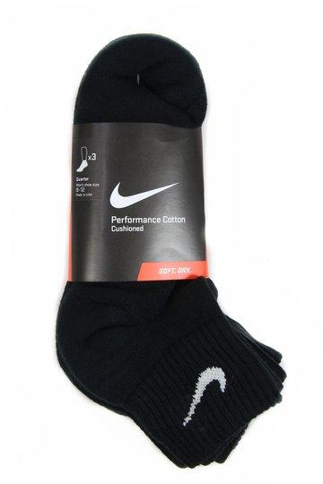 Meia Masculina Nike Cush Cano Longo com 3 Unidades - White