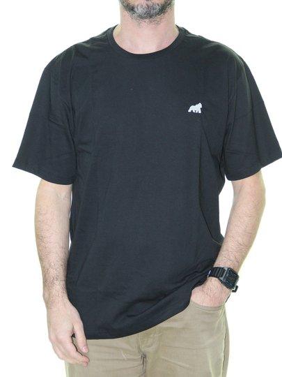 Camiseta Masculina Gorillas Tog Básica Bordada Manga Curta - Preto