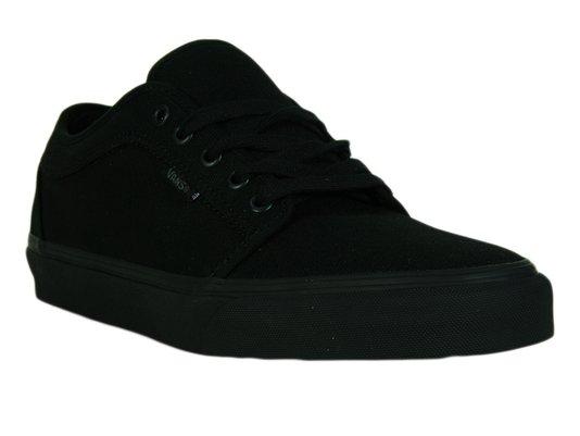 Tênis Masculino Vans Chukka Low Blackout Cabedal em Lona - Black/Black