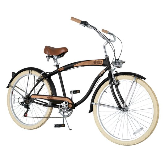 Bicicleta Psycre Sixties 7 Marchas - Preto