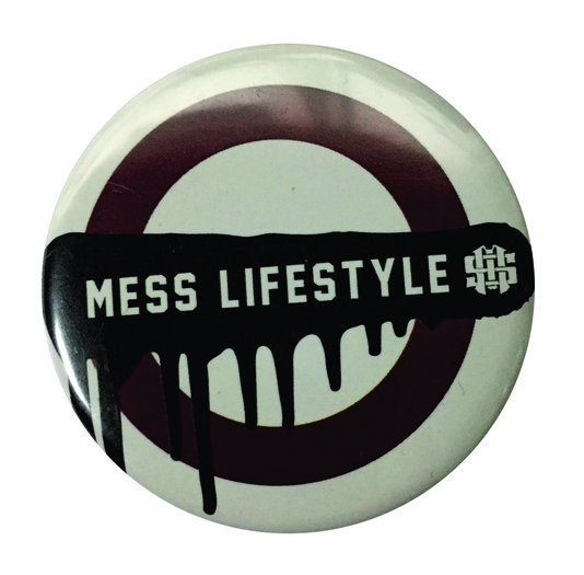 Broche Mess lifestyle - Branco/Bordo
