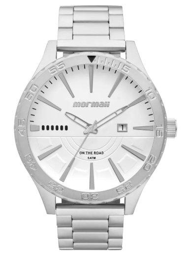 Relógio Mormaii MO2115AW/3K Analogico - Prata