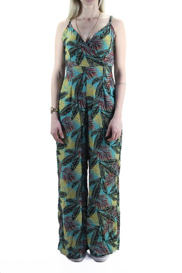 Macaquinho Feminino Riukiu Pantalona - Azul Floral