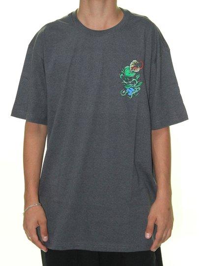 Camiseta Masculina Blunt Carnivorous Plant Manga Curta - Grafite Mesclado