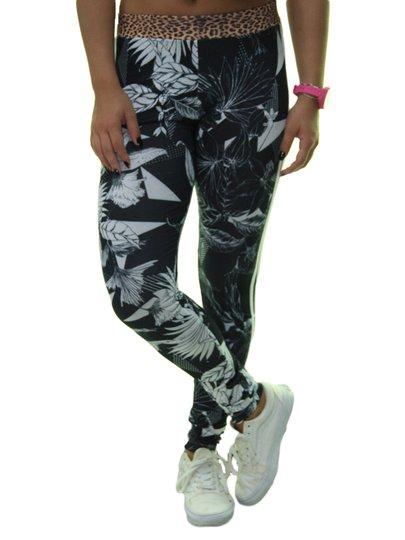 Calça Legging Feminina Adidas League Farm Titght - Preto/Branco