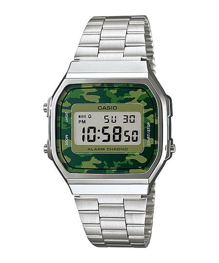 Relógio Feminino Casio Vintage Digital A168WE - Prata