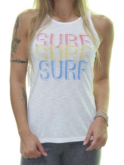 Regata Feminina Rip Curl Retro Surf Estampada - Branco