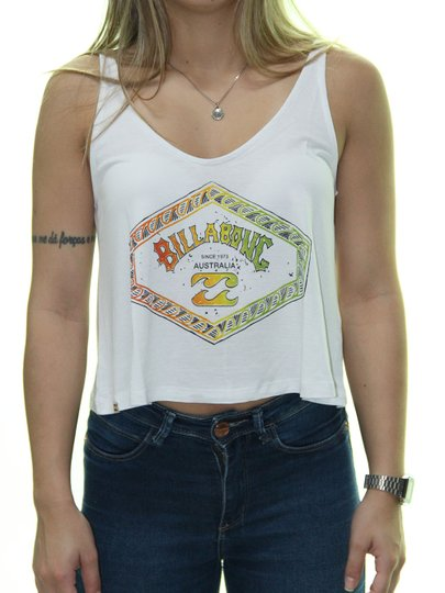 Regata Feminina Billabong Hexarch Estampada - Branco