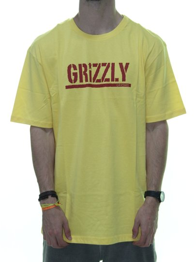 Camiseta Masculina Grirzzly Stampe Manga Curta - Amarelo Banana