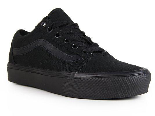 53e8d0e3bf419e Tênis Feminino Vans Old Skool Lite (Suede Canvas) - Black Black ...