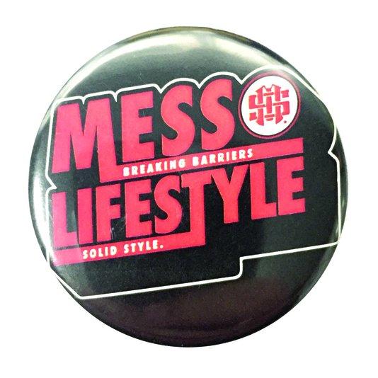 Broche Mess Solid Style - Preto/Vermelho