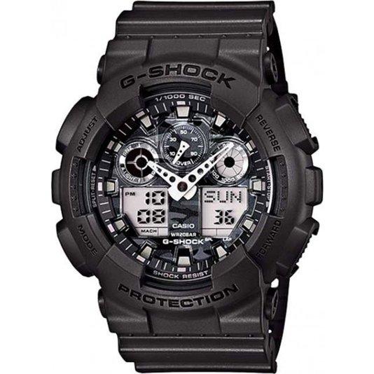 Relógio G-Shock GA-100CF-8ADR  - Chumbo