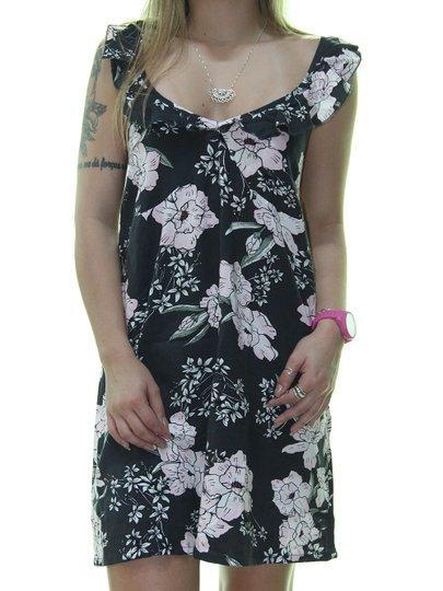 Vestido Feminino Rip Curl Nalu Beach Estampado - Preto/Floral