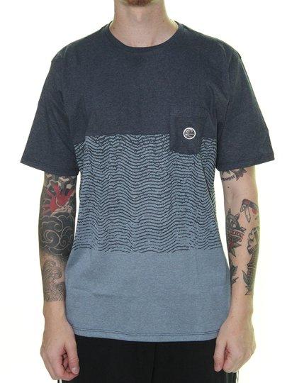 Camiseta Masculina Oneill Sabotage Listras Manga Curta - Azul Marinho