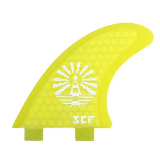 Quilha SCF para Prancha de Surf Lighthouse - Amarelo