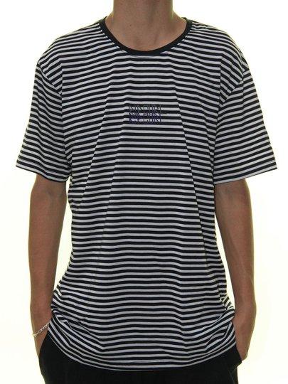 Camiseta Masculina Rip Curl Listra Manga Curta - Preto/Cinza