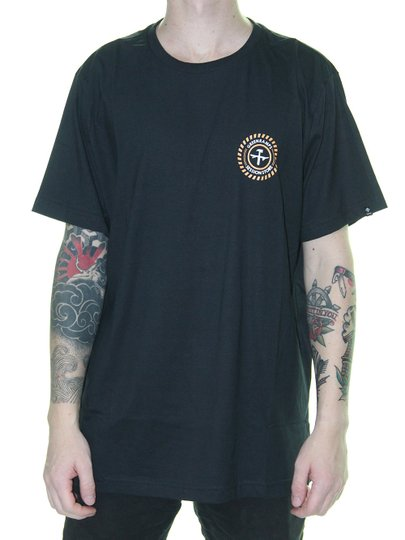 Camiseta Masculina Session Colab. Green Ramps - Preto