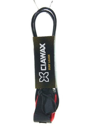 Leash para Surf Cia Wax Simples 6 pés - Preto/Vermelho