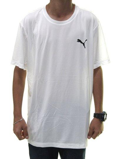 Camiseta Masculina Puma Active Manga Curta - Branco
